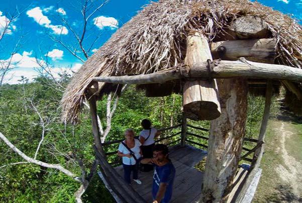 Ruinas de Cobá y Santuario del Mono Araña